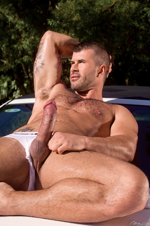 Adam-Killian-and-Lucas-Young-tattoed-muscle-boys-001-Ripped-Muscle-Bodybuilder-Strips-Naked-and-Strokes-His-Big-Hard-Cock-for-at-Falcon-Studios-photo