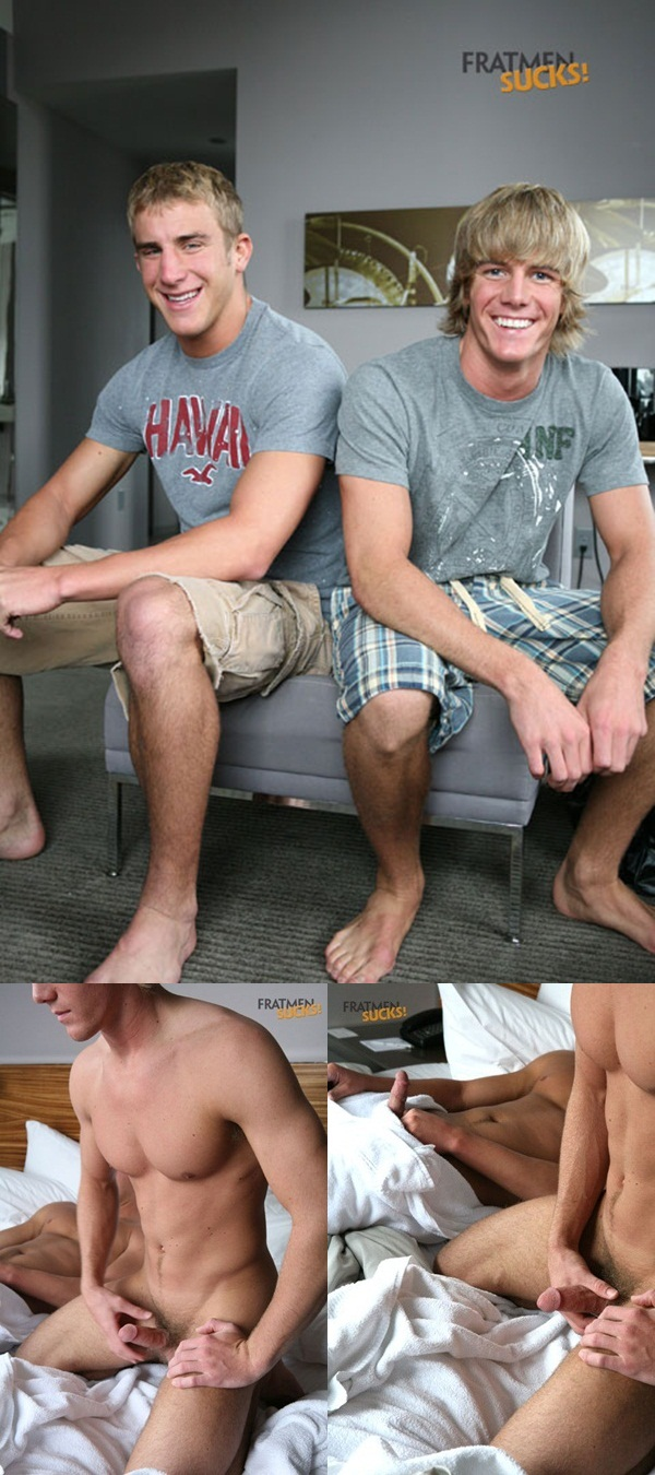 Fratmen Sucks two hot jocks Fratmen Ross and Fratmen Trey jerk their cocks until they both cum 1 download full movie torrents and gay porn photo gallery
