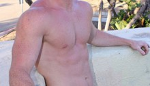 Ginger-haired-stud-Henry-cute-freckle-face-and-bright-red-pubes-01-Young-nude-Boy-Twink-Strips-Naked-and-Strokes-His-Big-Hard-Cock-photo