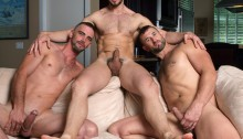 Hot-gay-threesome-Dean-Monroe-with-Joe-Parker-and-CJ-Parker-01-Ripped-Muscle-Bodybuilder-Strips-Naked-and-Strokes-His-Big-Hard-Cock-torrent-photo