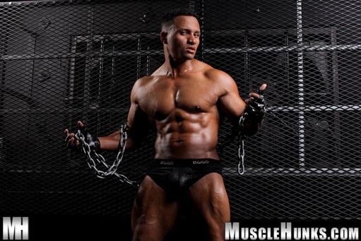 Hunky-black-bodybuilder-Devon-Ford-001-Ripped-Muscle-Bodybuilder-Strips-Naked-and-Strokes-His-Big-Hard-Cock-for-at-Muscle-Hunks-photo