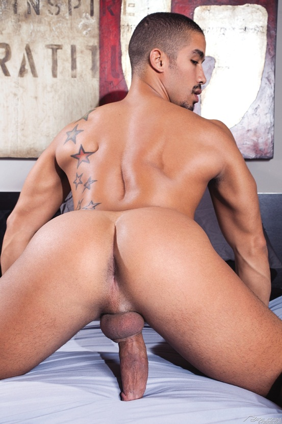 Landon-Conrad-finds-dark-sexy-stud-Trey-Turner-knows-how-to-ride-a-cock-01-Ripped-Muscle-Bodybuilder-Strips-Naked-and-Strokes-His-Big-Hard-Cock-photo