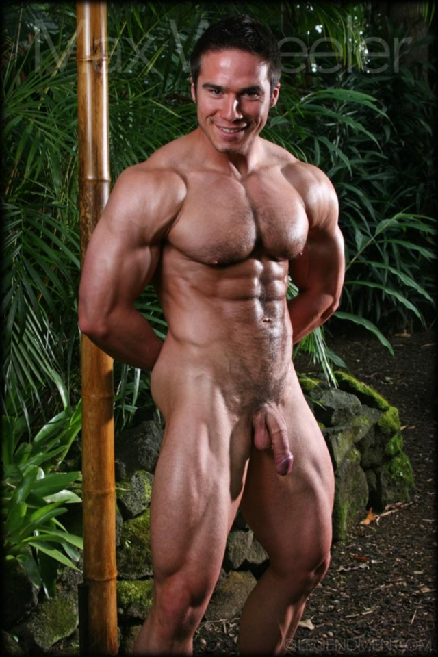Body builder male naked