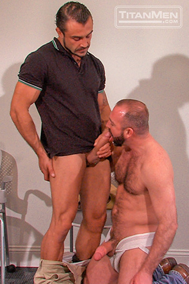Muscular gay sucked and fucking on the stairs 3
