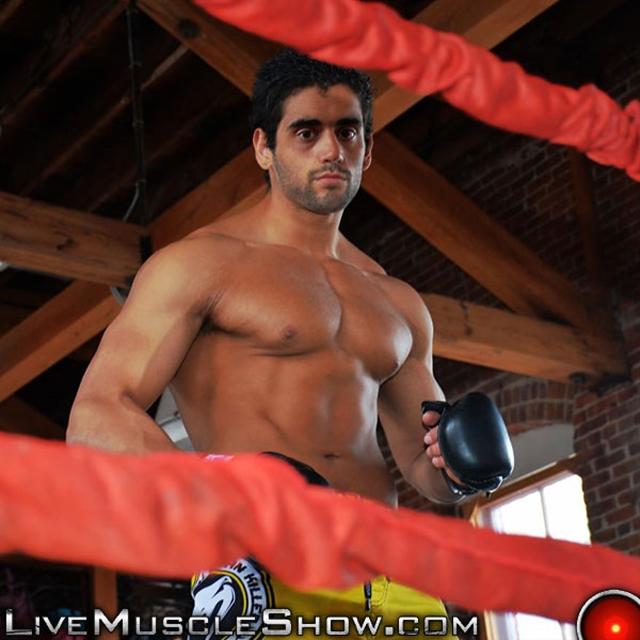 live muscle show  Luciano Damato (aka Angelo Antonio)