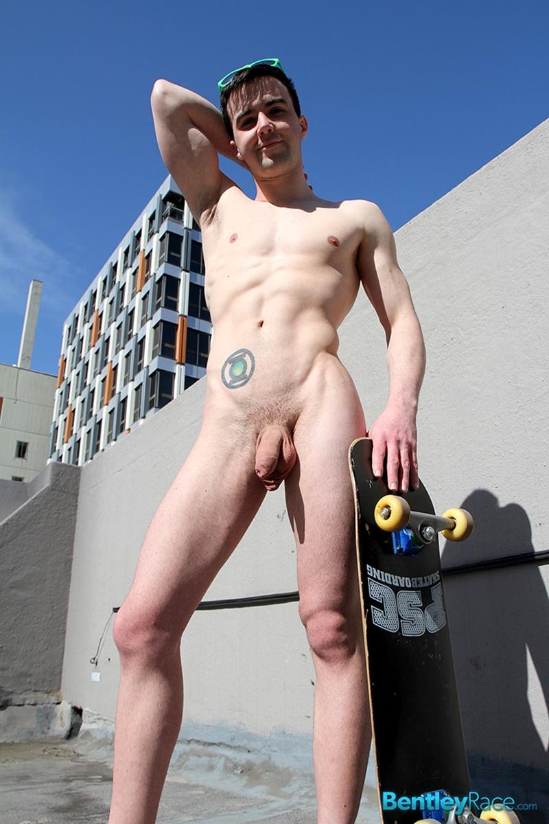 Kyle Grayson Jerks His Big Uncut Cock  Nude Gay Porn Pics-7670