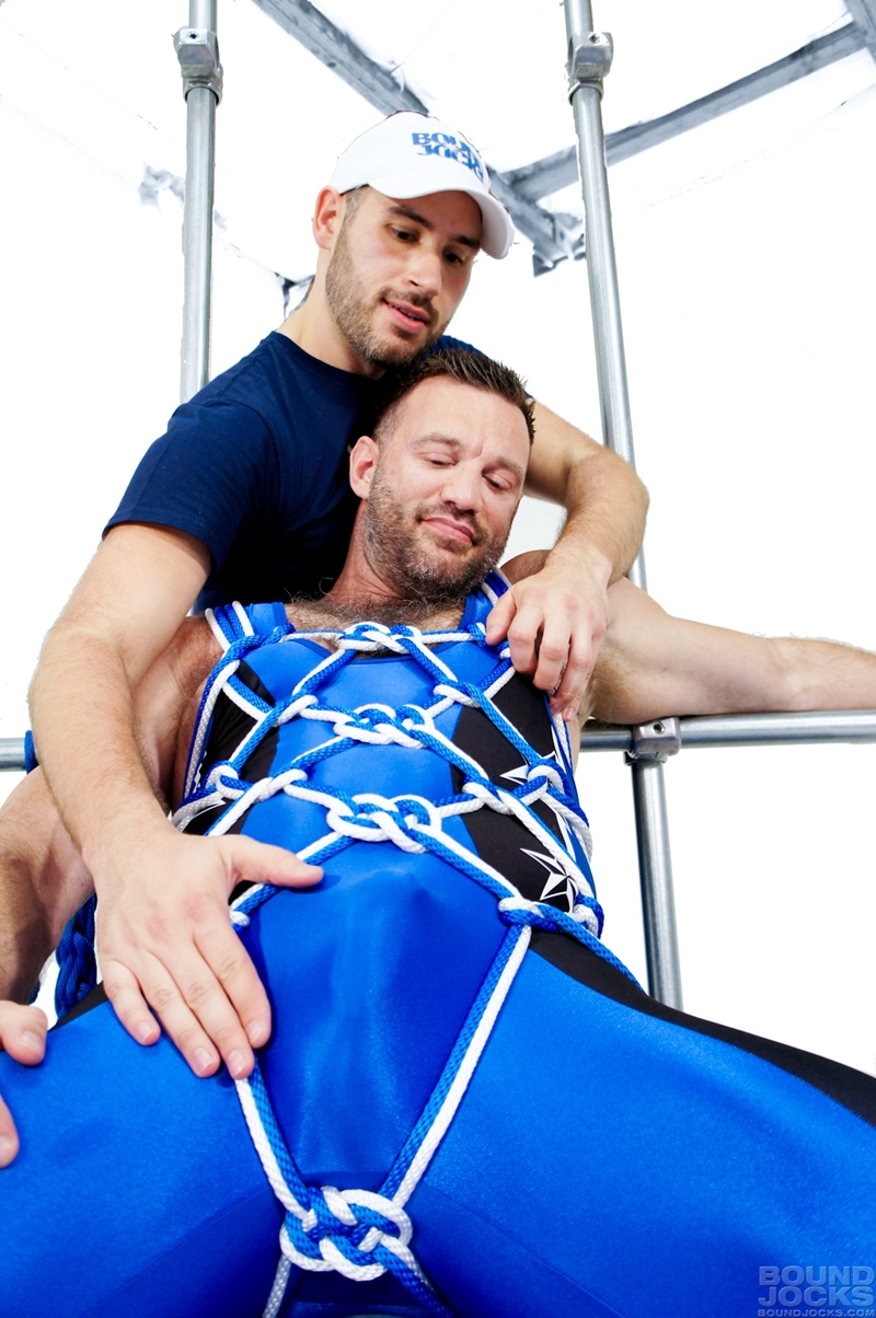 bound jocks  Aaron Cage and Knotty Brent
