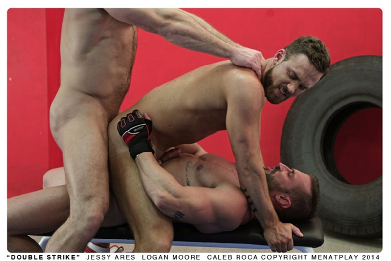 muscle men 2 men at play  Logan Moore, Jessy Ares and Caleb Roca