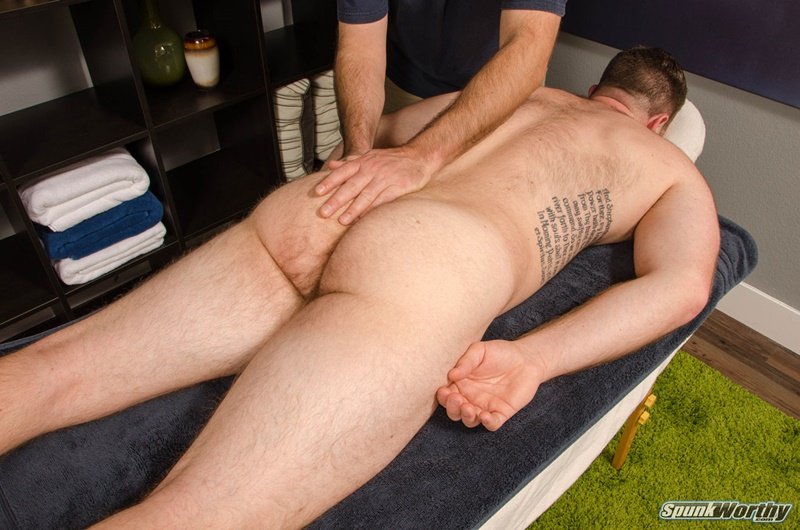 Gay Masseur Massages Butt With Anal Toy