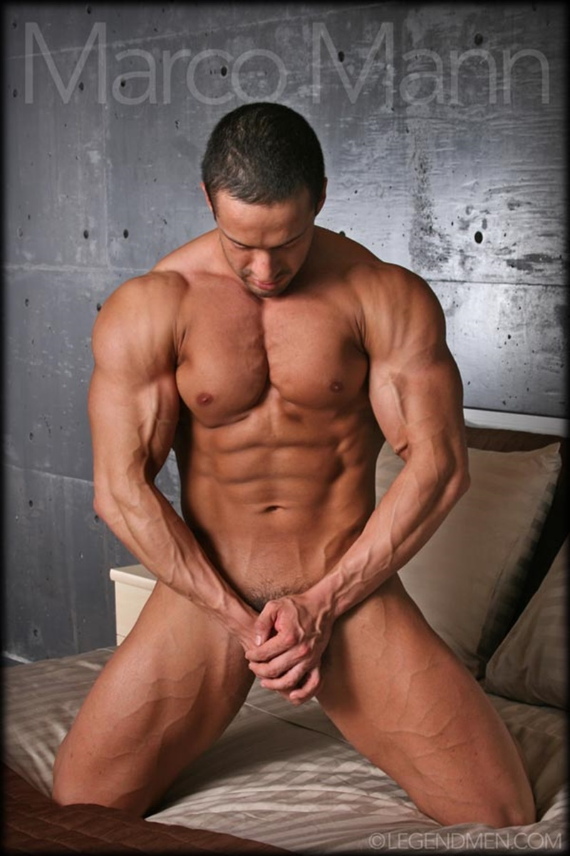 Sexy Naked Big Muscle Bodybuilder Ripped Legend Man Marco -7434