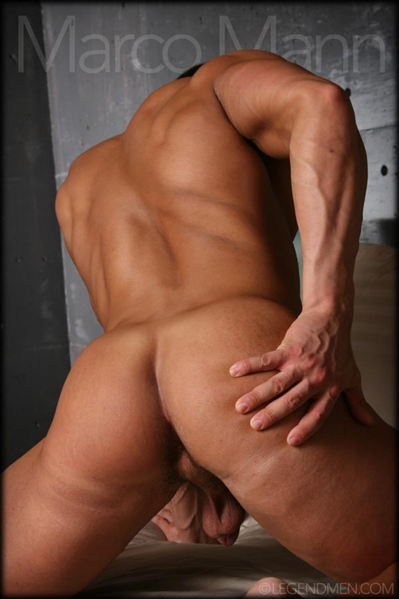 Sexy Naked Big Muscle Bodybuilder Ripped Legend Man Marco -9424