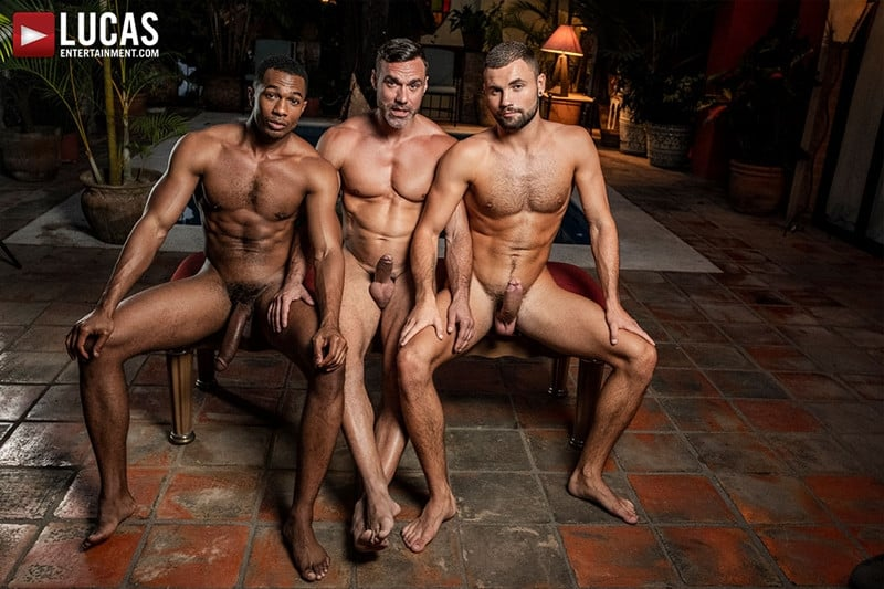 Men for Men Blog MANUEL-SKYE-JEFFREY-LLOYD-SEAN-XAVIER-SUNSET-SEX-LucasEntertainment-009-gay-porn-pictures-gallery Jeffrey Lloyd bareback fucks Sean Xavier before he takes Manuel Skye's big muscle cock Lucas Entertainment