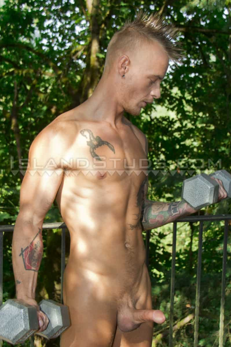 Men for Men Blog Tattooed-blonde-male-pole-dancer-huge-cock-IslandStuds-007-gay-porn-pictures-gallery Ripped young blonde punk pees and jerks his huge cock to a massive load of hot boy cum Island Studs