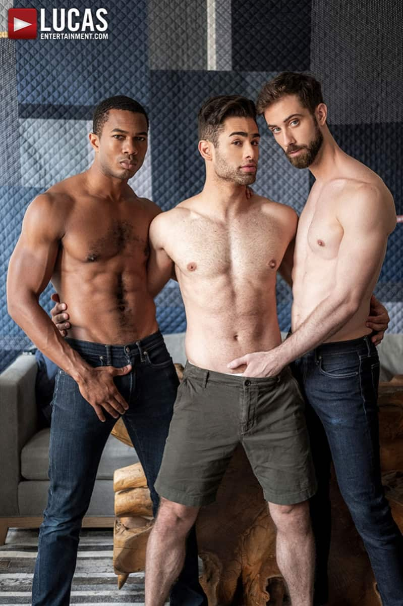 Men for Men Blog JASON-COX-LUCAS-LEON-SEAN-XAVIER-MONSTER-BLACK-DICK-big-muscle-threesome-LucasEntertainment-003-gay-porn-pictures-gallery Hot muscle dudes Jason Cox and Lucas Leon double fucked by Sean Xavier Lucas Entertainment