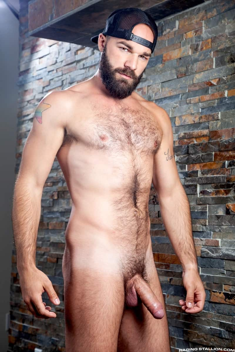 Riley Mitchel Max Duro hairy muscle hunks bubble butt fucked hard huge thick cock RagingStallion 007 gay porn pictures gallery - Riley Mitchel's bubble butt fucked hard Max Duro's huge thick cock