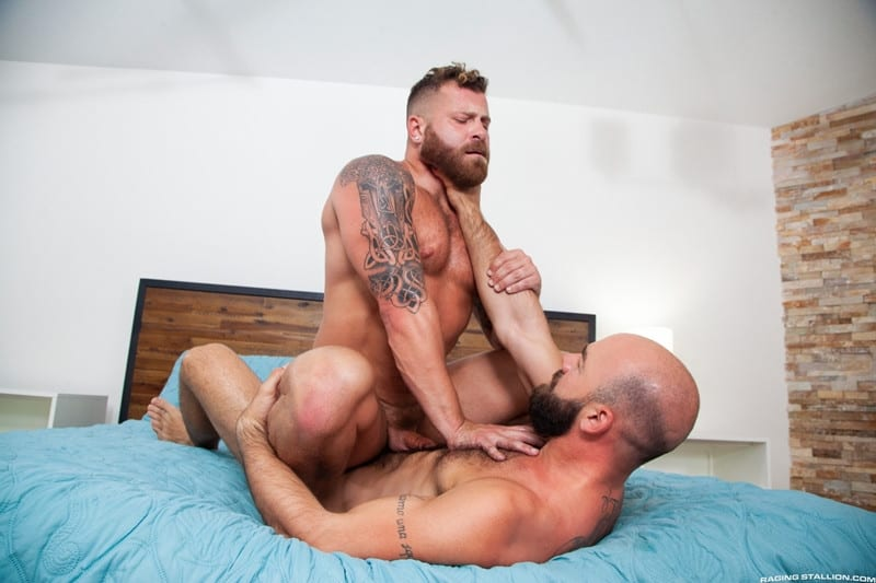 Riley Mitchel Max Duro hairy muscle hunks bubble butt fucked hard huge thick cock RagingStallion 012 gay porn pictures gallery - Riley Mitchel's bubble butt fucked hard Max Duro's huge thick cock