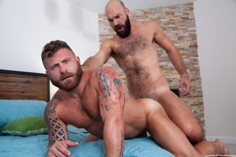 Riley Mitchel Max Duro hairy muscle hunks bubble butt fucked hard huge thick cock RagingStallion 014 gay porn pictures gallery - Riley Mitchel's bubble butt fucked hard Max Duro's huge thick cock