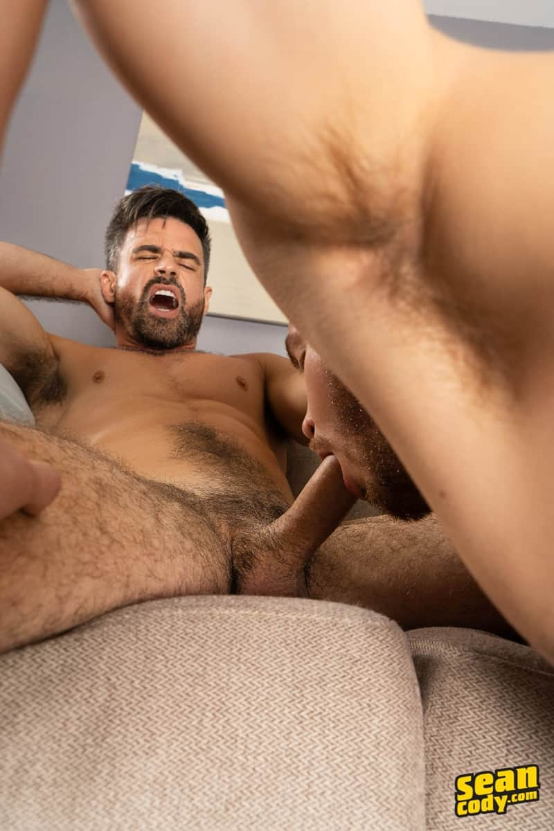 Men for Men Blog Gay-Porn-Pics-011-Stud-Daniel-muscled-Cam-sweaty-bareback-ass-fucking-SeanCody Studly Daniel leads sculpted Cam through a sweaty hands on yoga session before bareback ass fucking Sean Cody