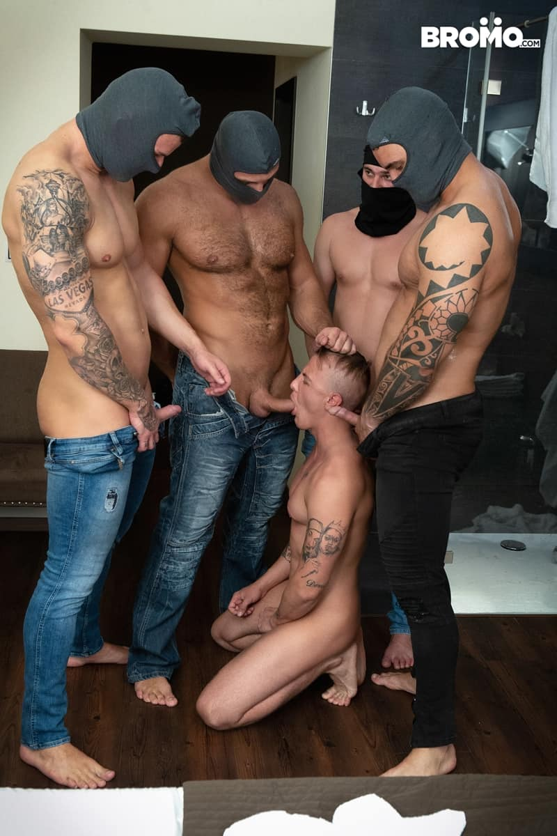 Bromo-Hot-naked-sub-dude-four-masked-men-bareback-fucking-ass-holes-009-gay-porn-pictures-gallery