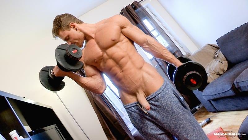 Big-muscle-man-Maskurbate-Brad-strips-naked-jerking-huge-uncut-dick-cum-004-Gay-Porn-Pics