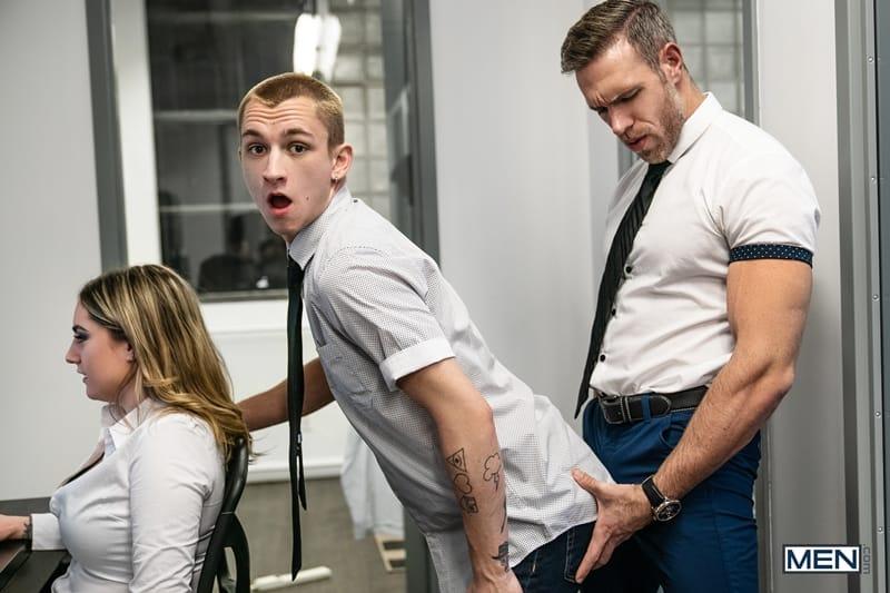 Hot hairy muscle hunk Alex Mecum fucks young stud Theo Brady's hot bubble ass