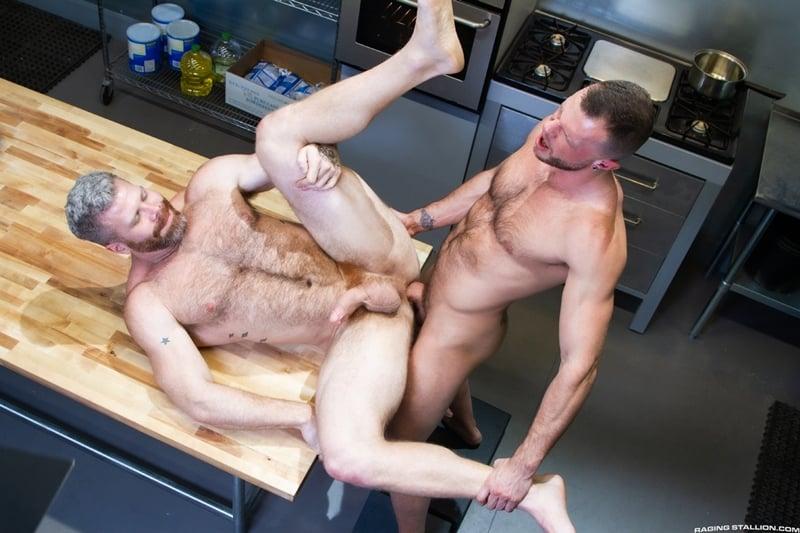 Wade Wolfgar rims fucks Cain Marko hairy ass hole 014 gay porn pics - Wade Wolfgar rims then fucks Cain Marko's hairy ass hole