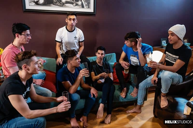 Buenos Aires gay twink orgy with Alejo Smith, Fabrice Rossi, Felix Harris, Francis Gerard, Sly Conan and Sonny Davon