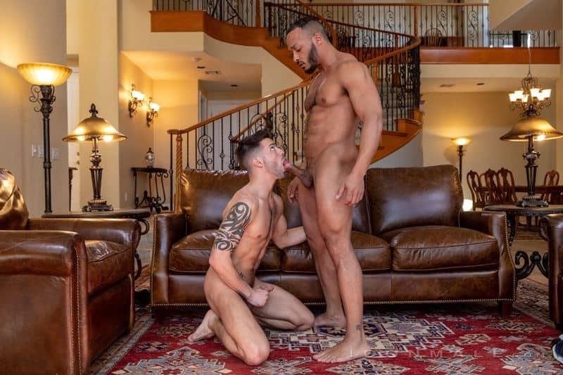 Dillon Diaz's big black cock bareback fucking Casey Everett's hot tight boy hole