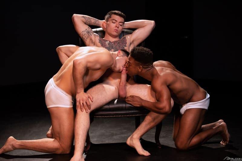 Hardcore anal threesome Adrian Hart, Cazden Hunter and Clark Davis big dick fucking