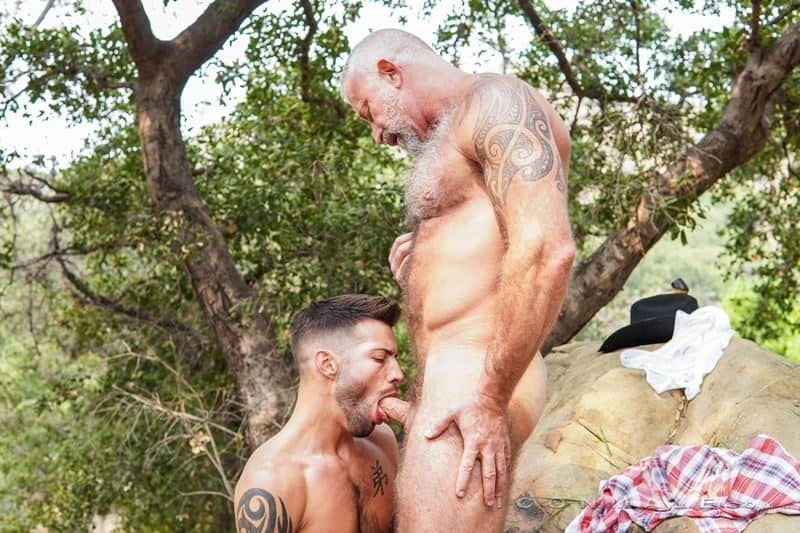 Young stud Casey Everett hot hole bareback fucked older Lance Charger huge raw dick 001 gay porn pics - Young stud Casey Everett's hot hole bareback fucked by older Lance Charger's huge raw dick