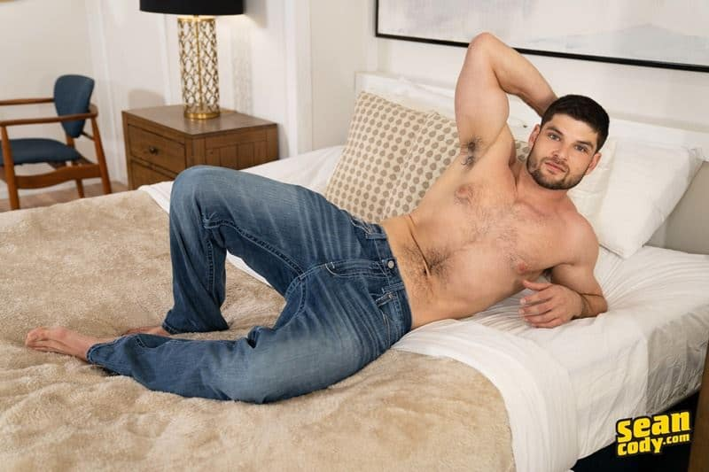 Sexy young hairy chested muscle hunk Sean Cody Phillip strips naked sexy underwear jerking big thick dick 001 gay porn pics - Sexy young hairy chested muscle hunk Sean Cody Phillip strips out of his sexy underwear jerking his big thick dick