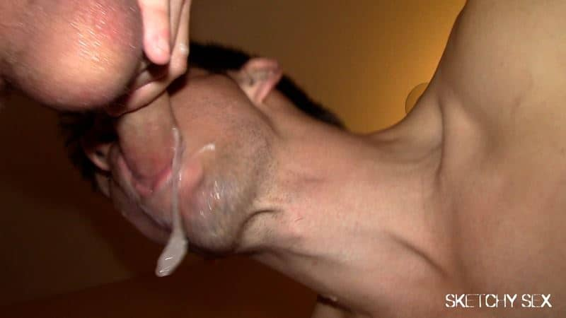 Sketchy Sex cumdump loads up jizz tops 014 gay porn pics - Sketchy Sex who can get the most loads from our tops?