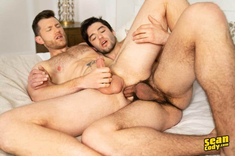 Hairy chested muscle hunk Nicky bareback fucks Caden hot bubble ass 1 gay porn pics - Hairy chested muscle hunk Nicky bareback fucks Caden's hot bubble ass