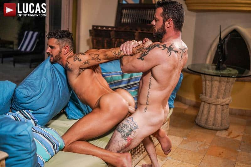 Muscled older stud Sergeant Miles huge raw dick dominates ripped younger dude Valentin Amour hot hole 0 gay porn pics - Muscled older stud Sergeant Miles's huge raw dick dominates ripped younger dude Valentin Amour' hot hole