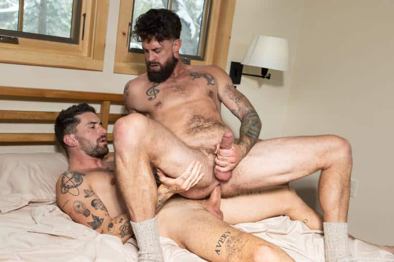Sexy tattooed muscle dude Chris Damned raw fucks bearded hunk Alpha Wolfe hot bubble butt 12 gay porn pics - Sexy tattooed muscle dude Chris Damned raw fucks bearded hunk Alpha Wolfe's hot bubble butt