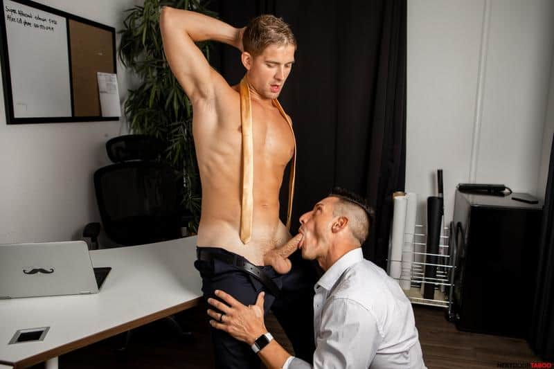 Blonde young stud Brandon Anderson hot bubble ass bare fucked Jax Thirio huge thick dick 0 gay porn pics - Blonde young stud Brandon Anderson's hot bubble ass bare fucked by Jax Thirio's huge thick dick