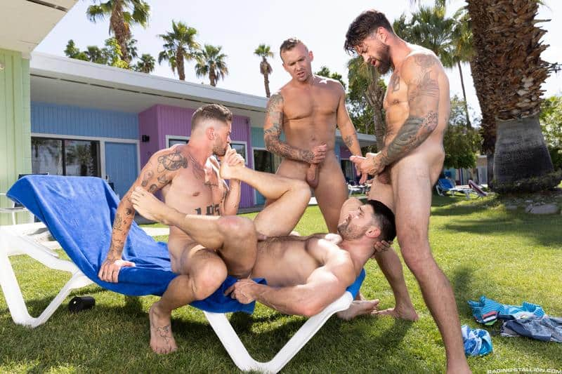 Gay hardcore outdoors foursome Chris Damned Isaac X Beau Butler Alpha Wolfe bareback anal fucking 13 gay porn pics - Gay hardcore outdoors foursome Chris Damned, Isaac X, Beau Butler and Alpha Wolfe bareback anal fucking