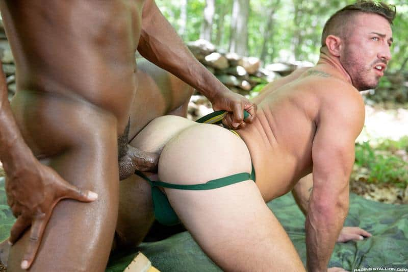 Hairy chested hunk Grant Ryan bare asshole raw fucked black stud Andre Donovan huge dick 9 gay porn pics - Hairy chested hunk Grant Ryan's bare asshole raw fucked by black stud Andre Donovan's huge dick