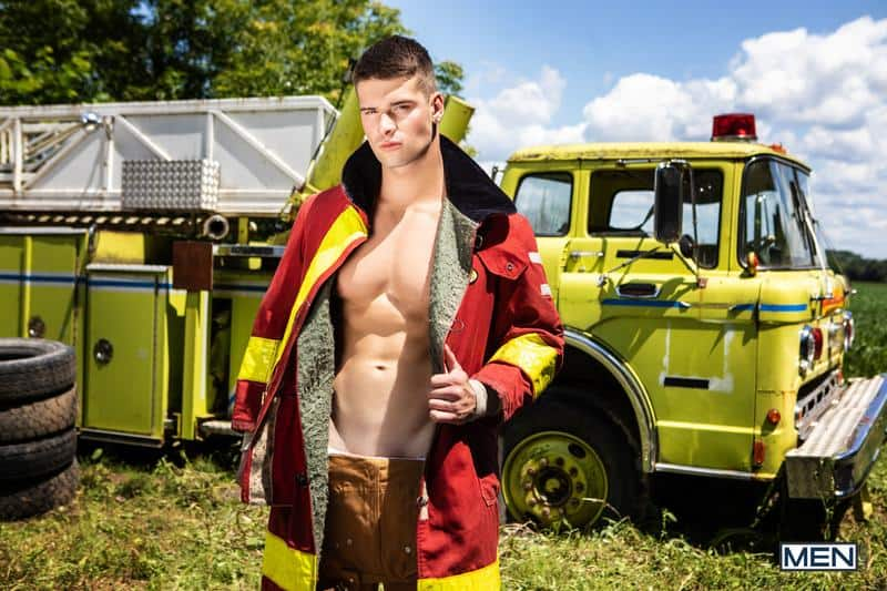 Firefighters Skyy Knox hot holes double fucked muscled hunks William Seed Malik Delgaty huge dicks 5 gay porn pics - Firefighters Skyy Knox's hot holes double fucked by muscled hunks William Seed and Malik Delgaty's huge dicks
