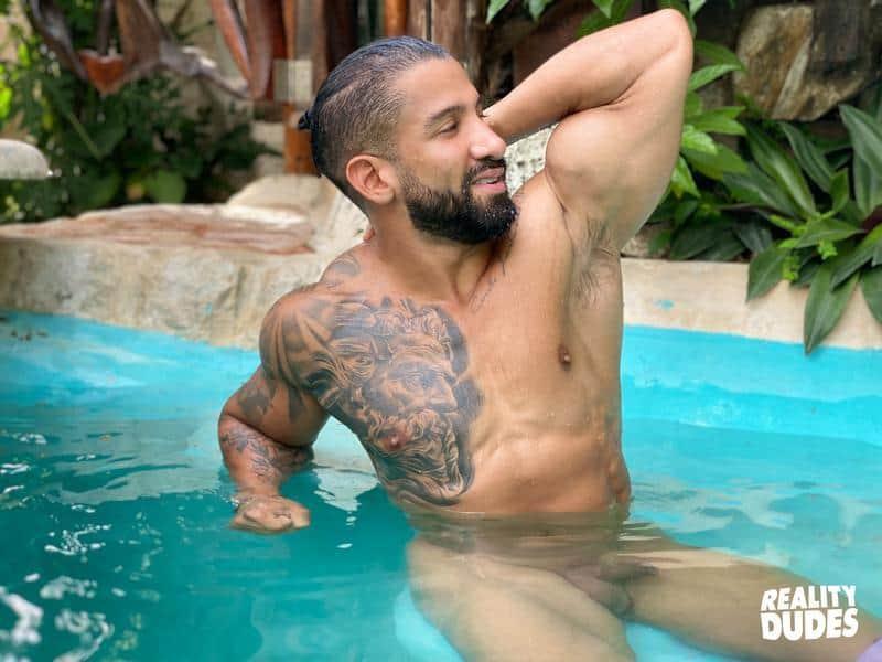 Tattooed Latino hunk Octavio hot asshole bare fucked Rob Campos huge thick dick 1 gay porn pics - Tattooed Latino hunk Octavio's hot asshole bare fucked by Rob Campos's huge thick dick